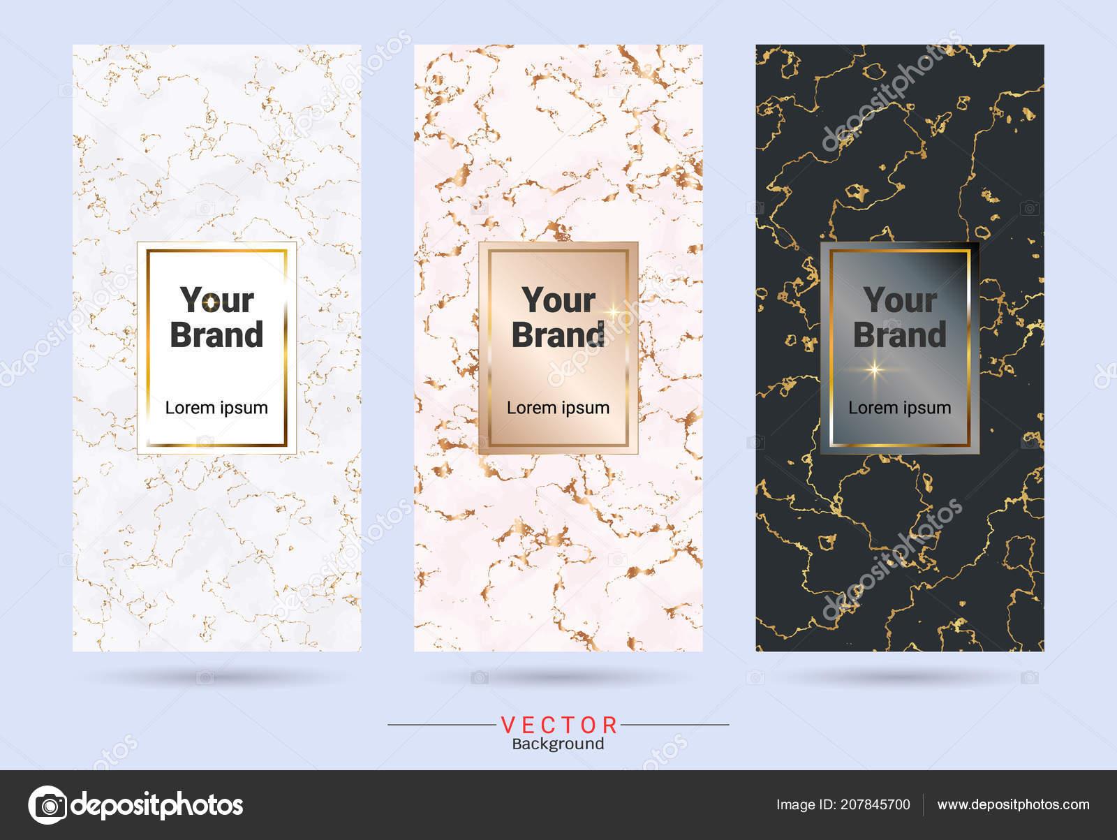 Verpackung Premium Box Aufkleber Und Sticker Designvorlagen