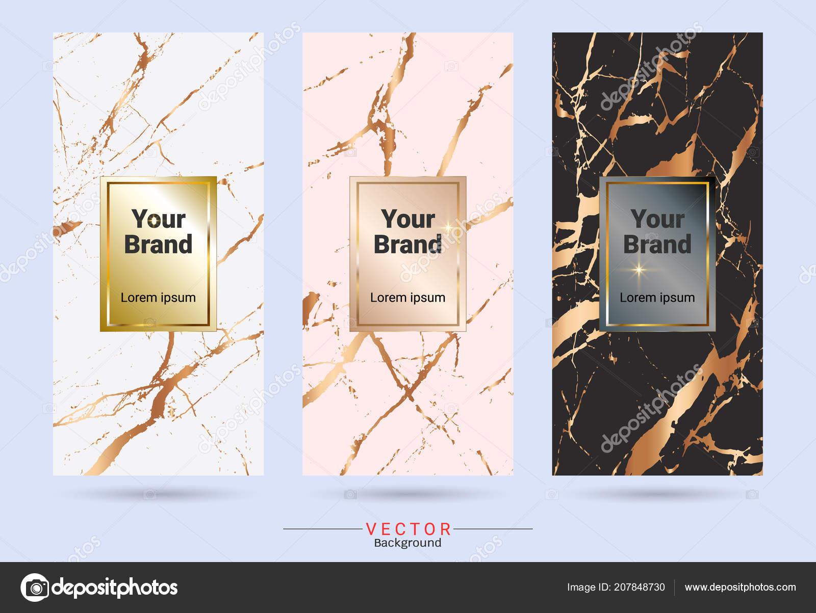 Embalaje Premium Caja Etiqueta Etiquetas Engomadas Plantillas Diseño ...