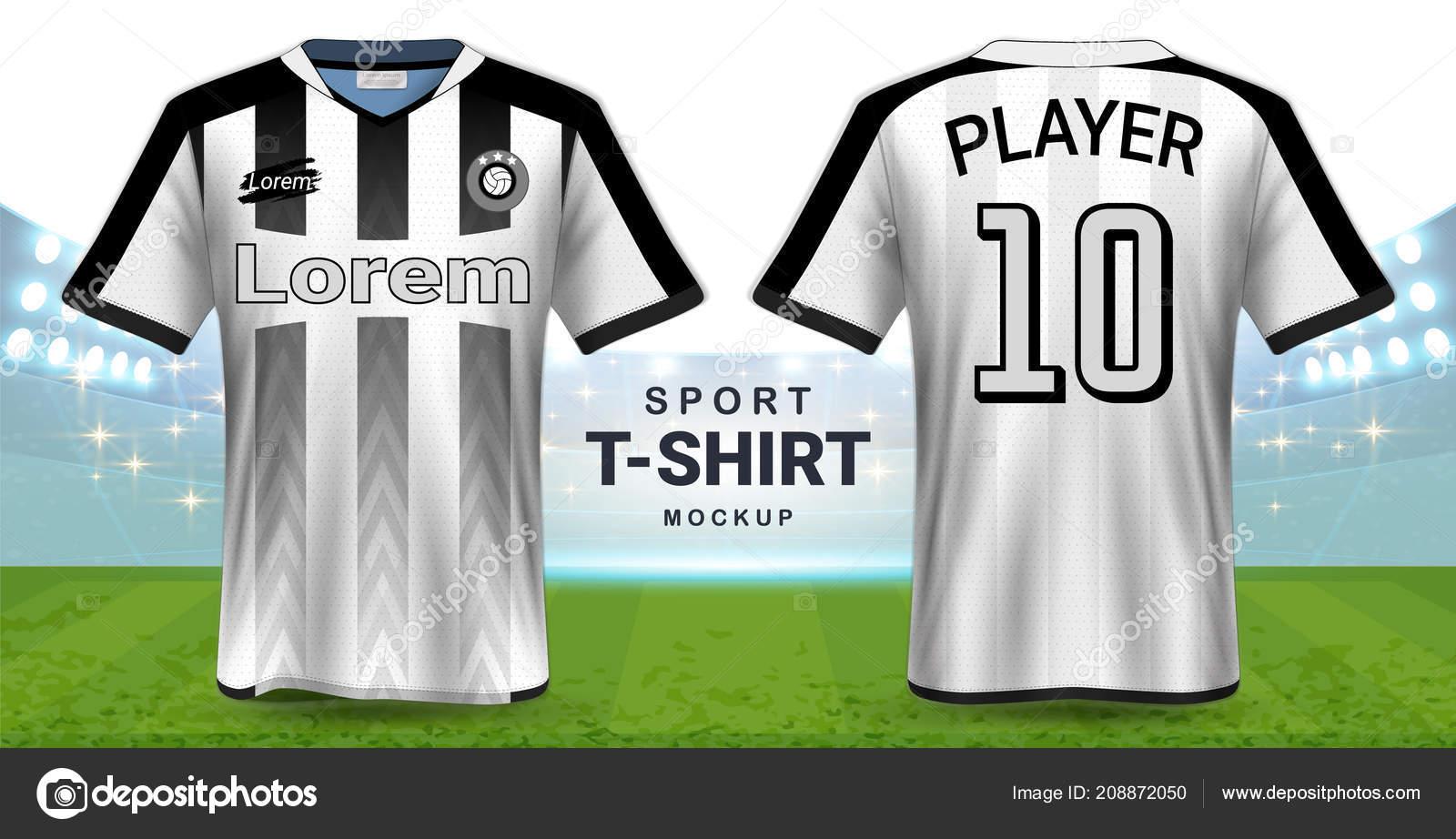 52a5759510 Camisa Futebol Modelo Maquete Shirt Sportswear Design Gráfico ...