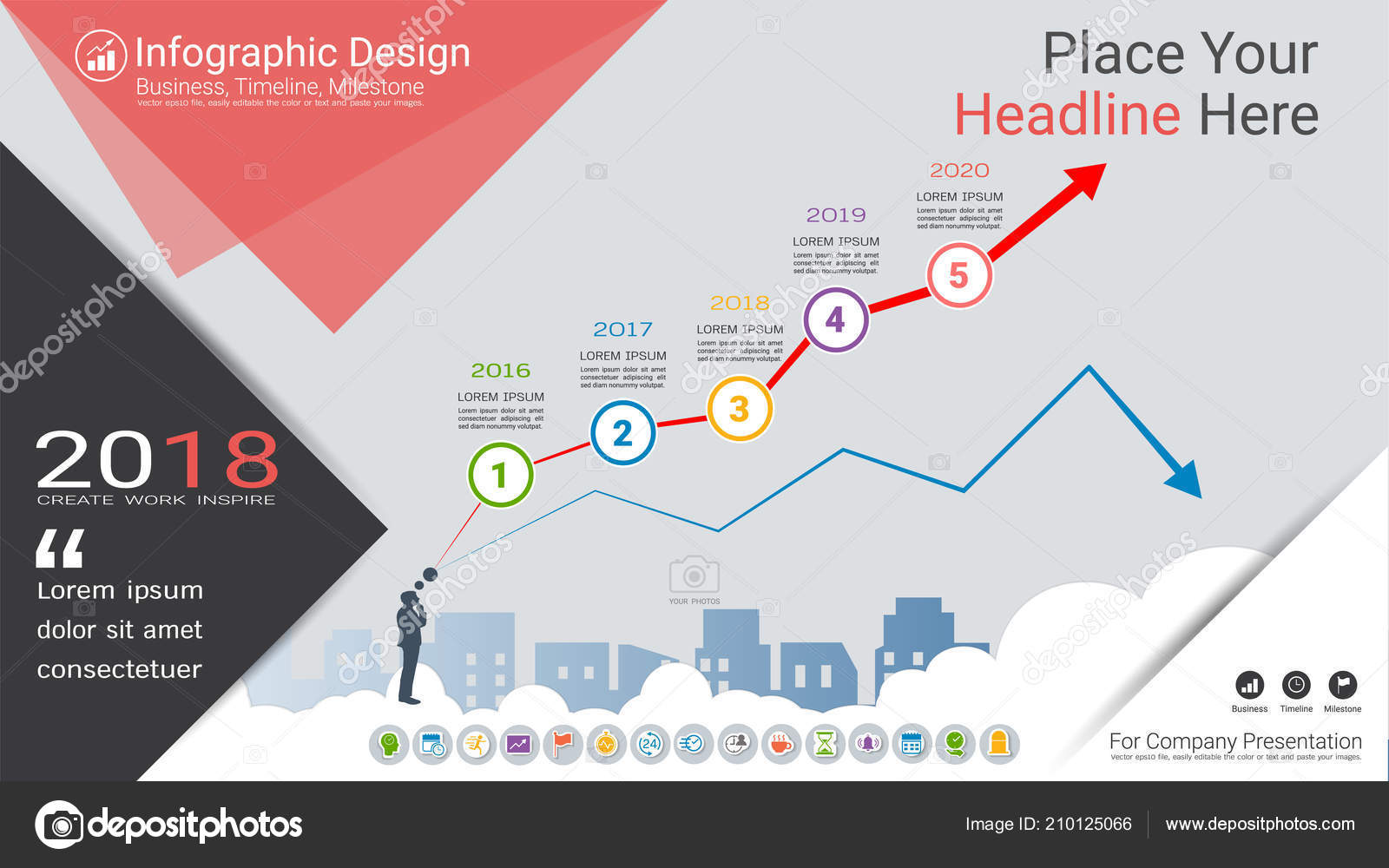 Business Infographics Template Milestone Timeline Road Map Process on company mission, company leadership, company registration, company goals, strategy map, company gardens map, company resources, company management, company department map, company art,