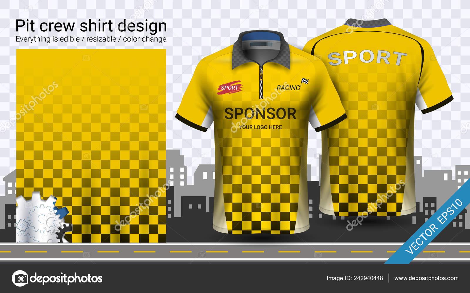Polo Shirt Zipper Racing Uniforms Mockup Template Active Wear Sports Stock Vector C Aioonrak Gmail Com 242940448