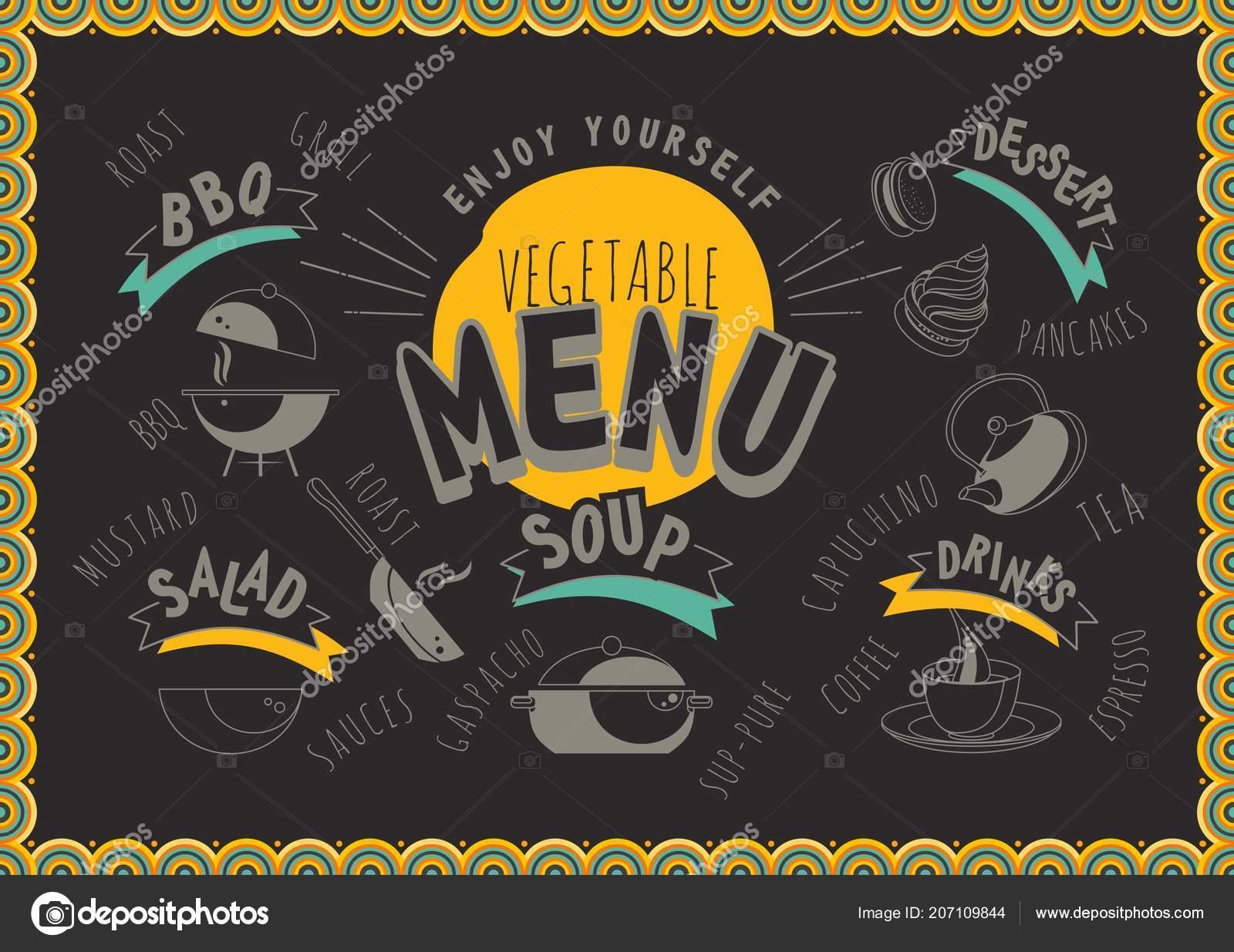 62ad4dd95cc2 Vektorové Ilustrace Menu Pro Kavárnu Nebo Restauraci Speciální Nabídku Pro  — Stockový vektor