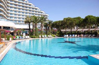 Turkey. Didim. 04 July 2018. Venosa Beach Hotel. Relaxing by the pool