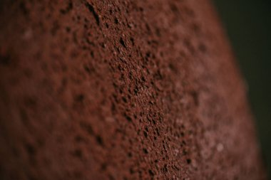 close-up view of blank brown rough weathered background