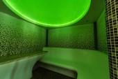 Fotografie Interior of a Tutkish steam bath (hamam) with tile and green light