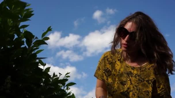 Dolgozz ecsetvágóval, kerti ollóval. Nyári hétvége, falusi jelenet. Egy lány sövényt vág a háza közelében.
