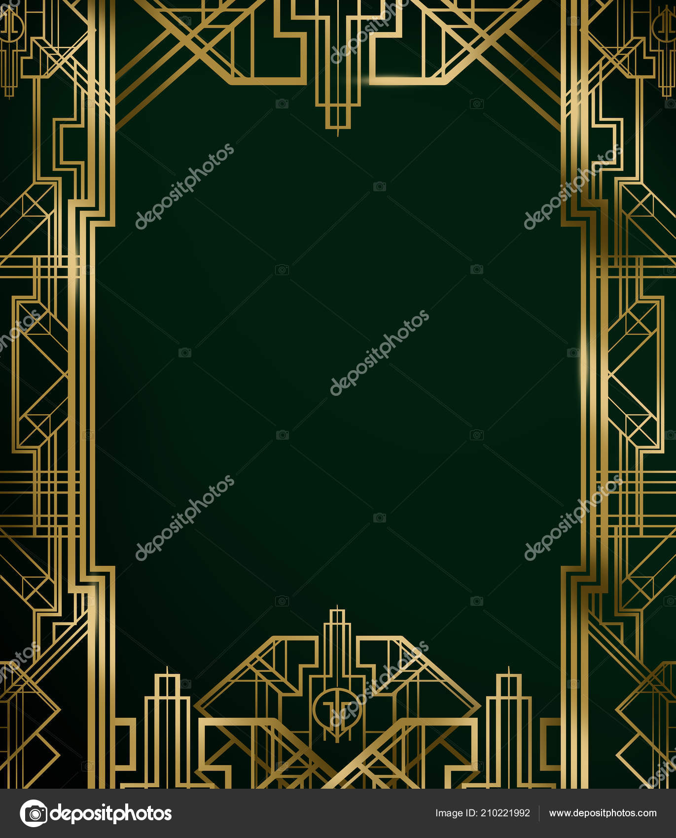 Great Gatsby Art Deco Movie Film Inspired Background Poster Banner
