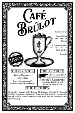History of New Orleans French Quarter Libations Cocktail Infographic