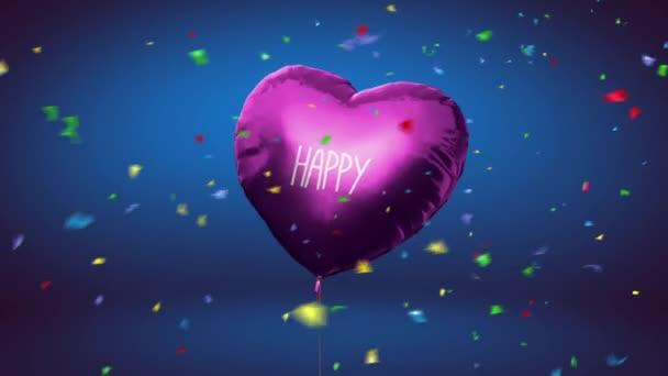 Gratulujeme k narozeninám na 1 rok. Gelové kuličky. Animace