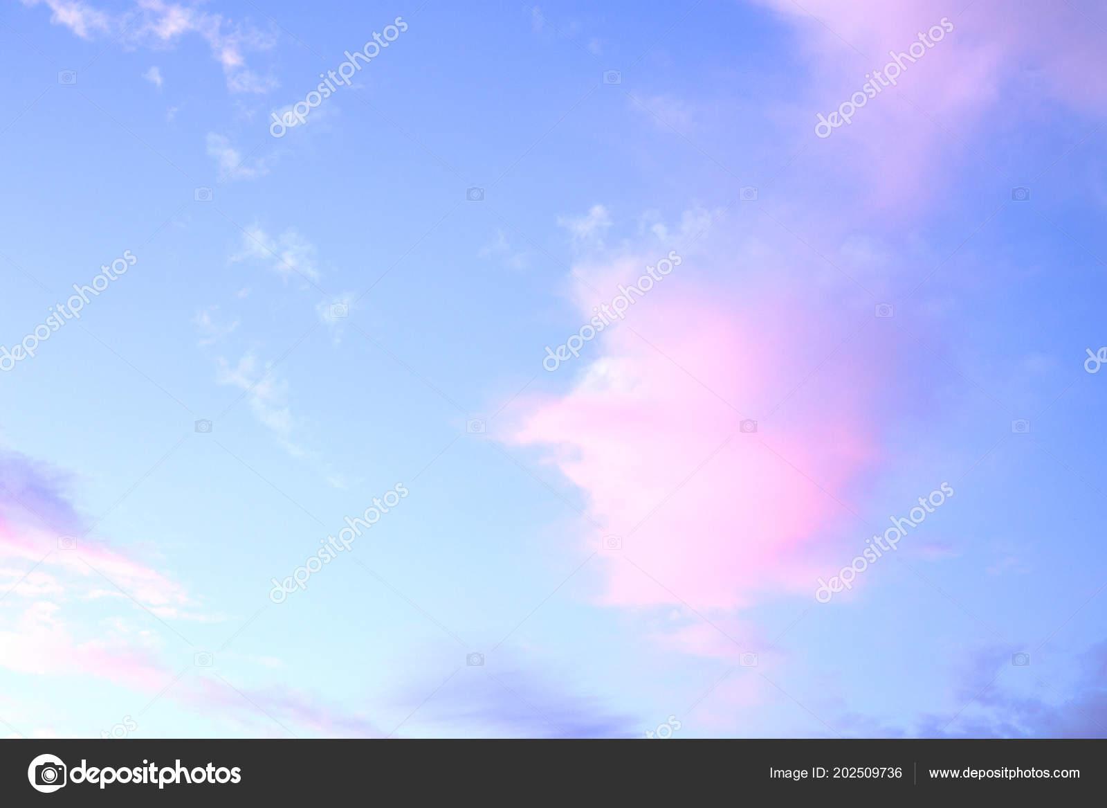 Coucher Soleil Ciel Bleu Rose Orange Photographie