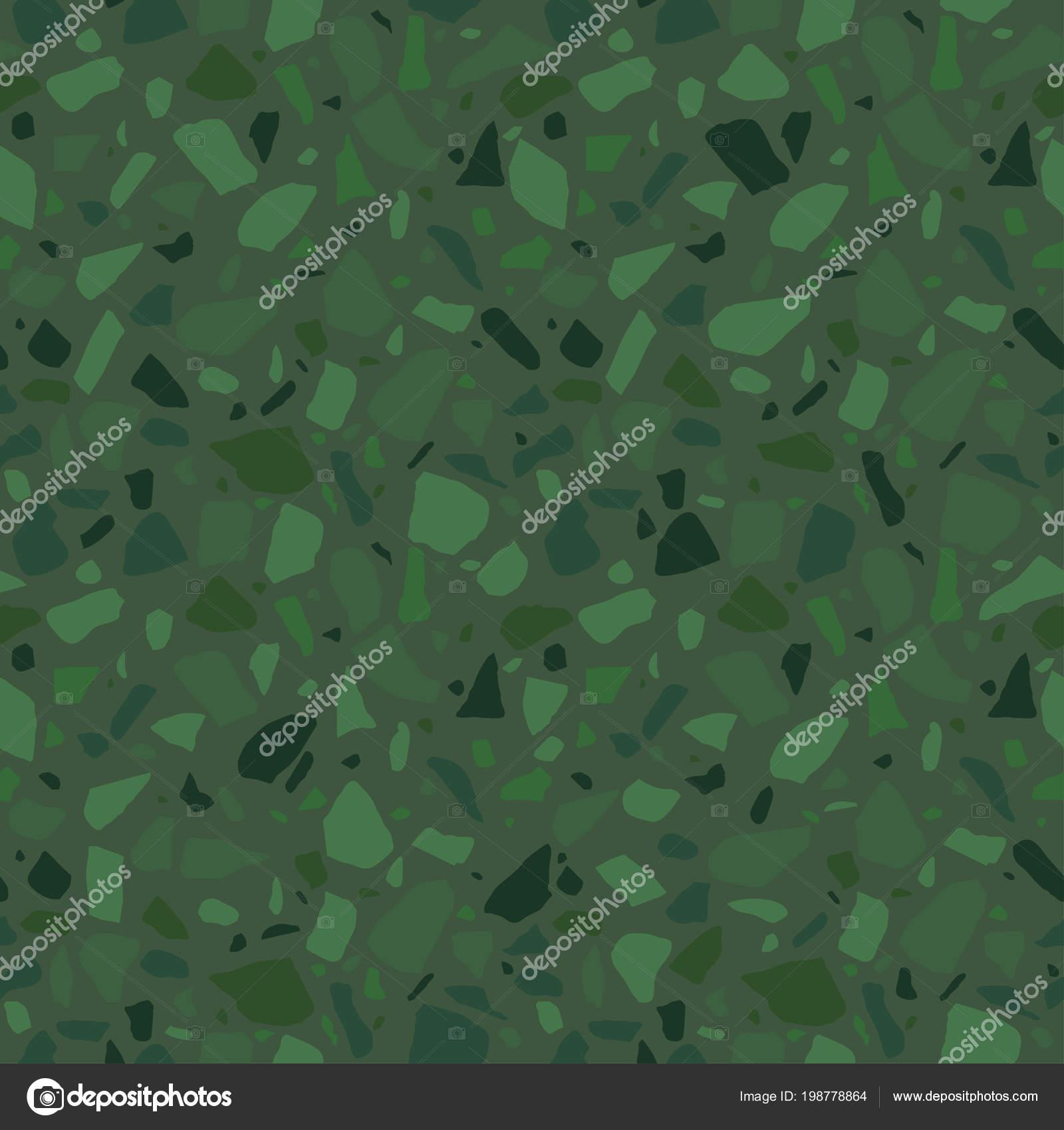 Terrazzo Seamless Pattern Surface Texture Decorative Granite Tiles Stone Colored Stock Vector
