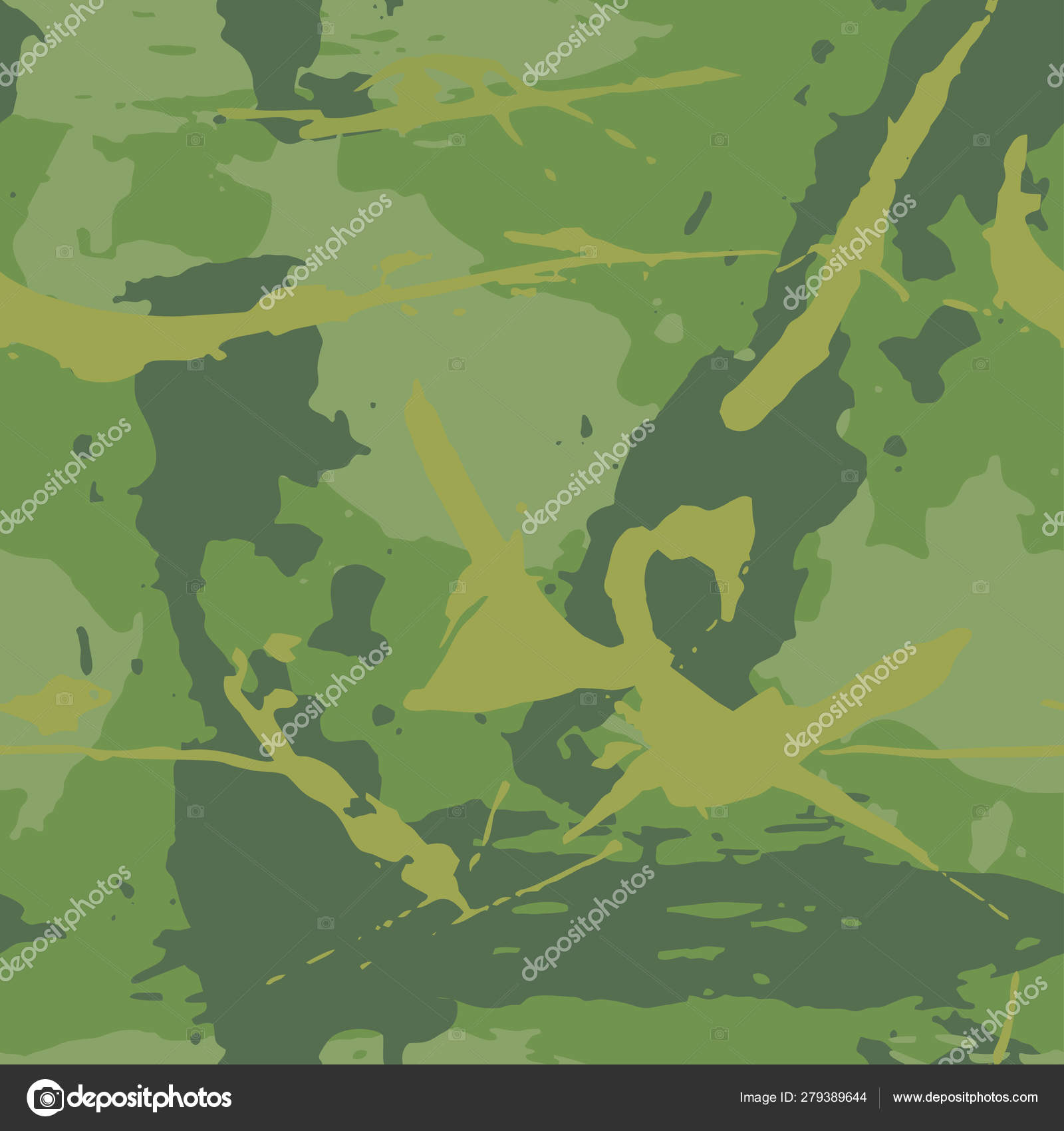 Camouflage Grunge Texture Seamless Abstract Background Paint Strokes Dark Green Vector Image By C Parmenow Vector Stock 279389644