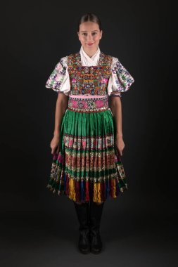 Slovak folklore Traditional woman costume.