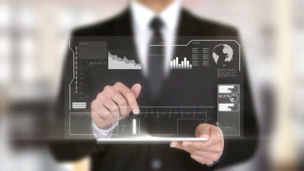 Strategische Partnerschaft, Geschäftsmann mit Hologramm-Konzept