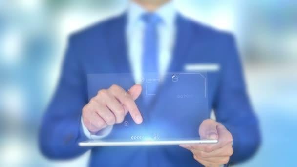 Šifrování dat, podnikatel s hologramem
