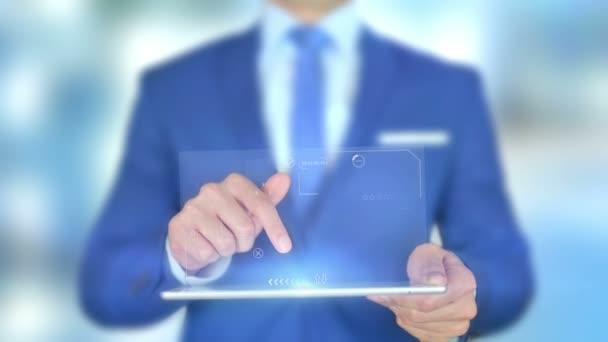 Internet věcí, IoT, podnikatel s hologramem