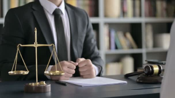 Close up Shoot of Lawyer Hand Shaking with other Person on Table