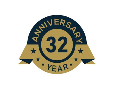 ✅ 32 year logo premium vector download for commercial use. format: eps,  cdr, ai, svg vector illustration graphic art design