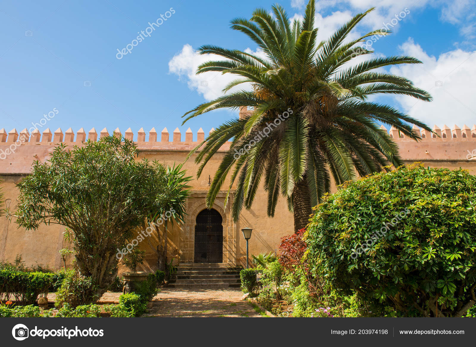 Andalusian gardens in Udayas kasbah Rabat Morocco North Africa ...