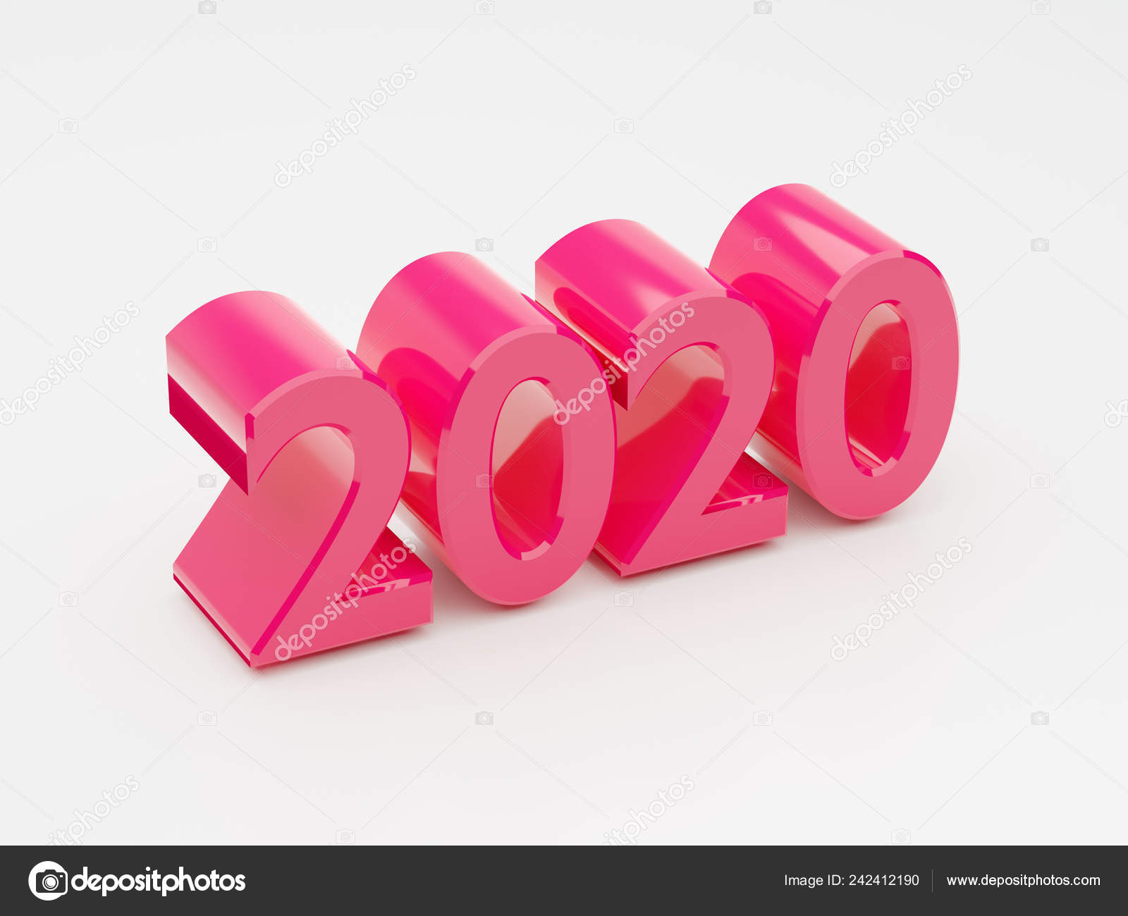 Calendario Word 2020.Ano 2020 Calendario Word Texto Brillante Fondo Color Rosa