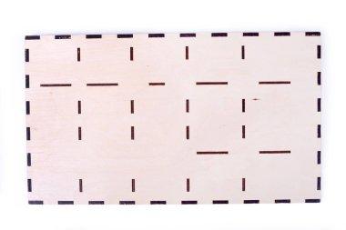 Bottom of wooden box isolate. Bottom of box on white background