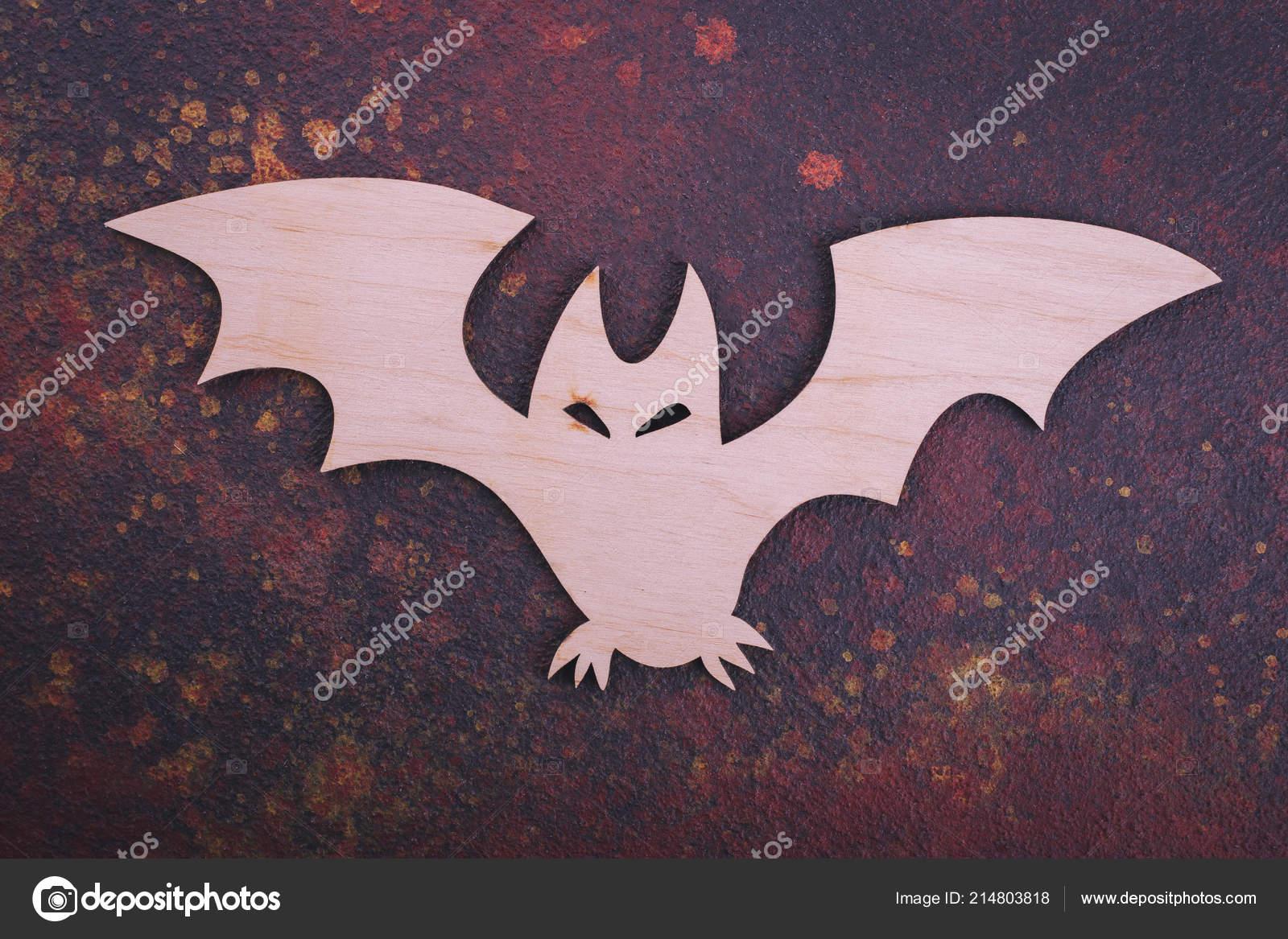 Wooden Bat Dark Background Bat Cut Wood Close Stock Photo