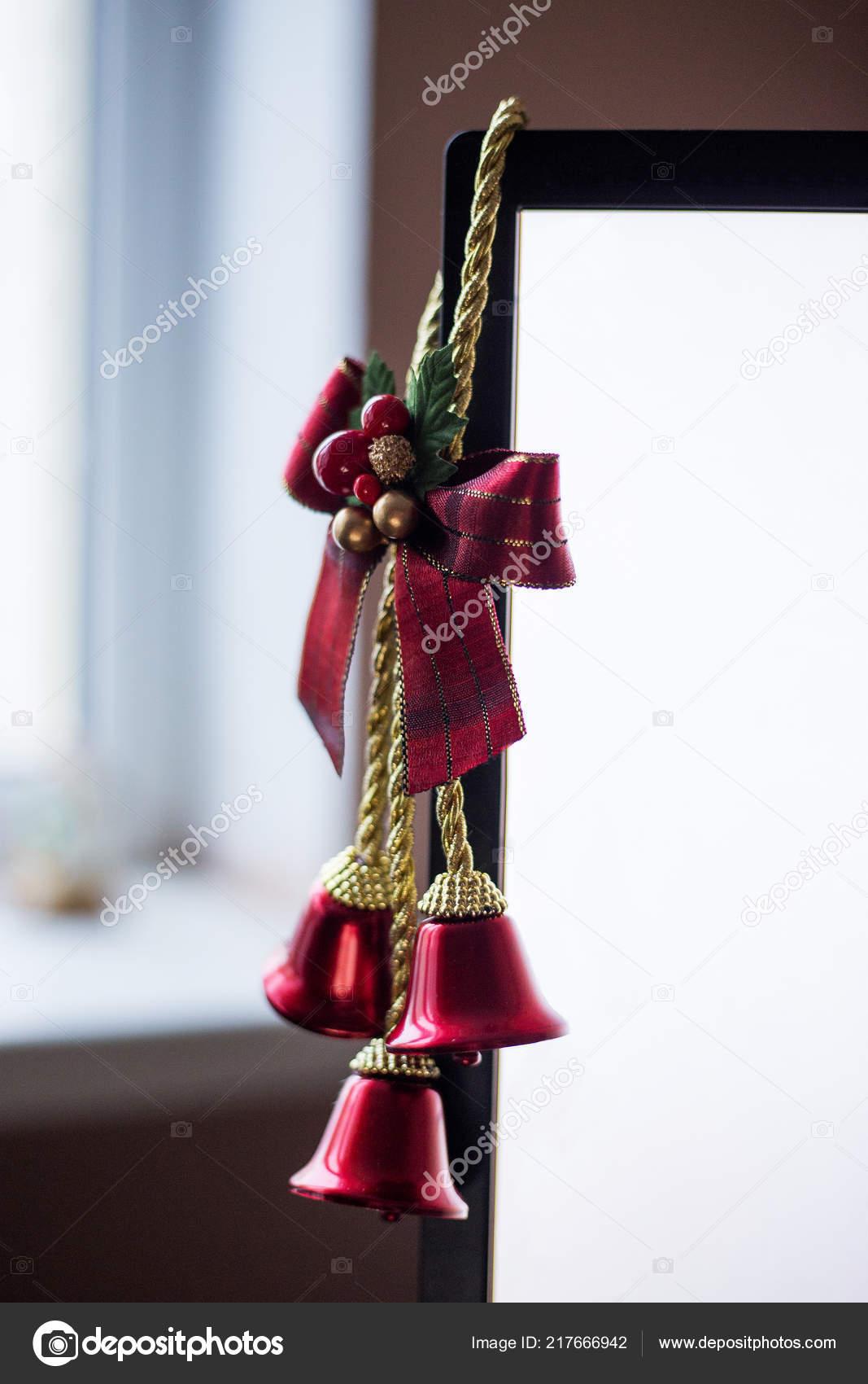 Christmas Bells Computer Screen Festive Decoration Desktop Stock
