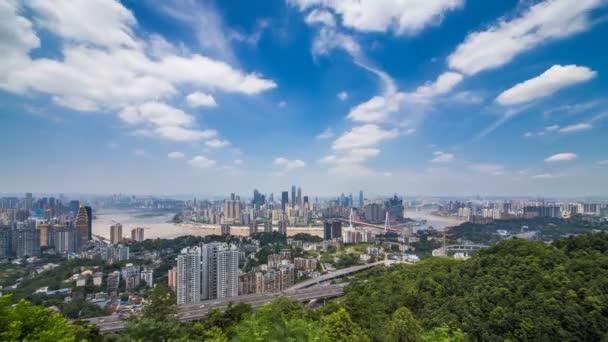 Časová prodleva panoráma a Panorama chongqing cloud obloze