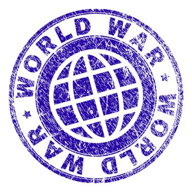 Scratched Textured WORLD WAR Stamp Seal