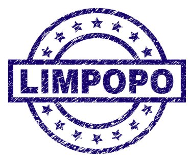 Scratched Textured LIMPOPO Stamp Seal