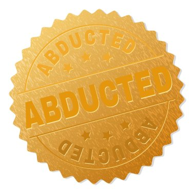 Gold ABDUCTED Medal Stamp