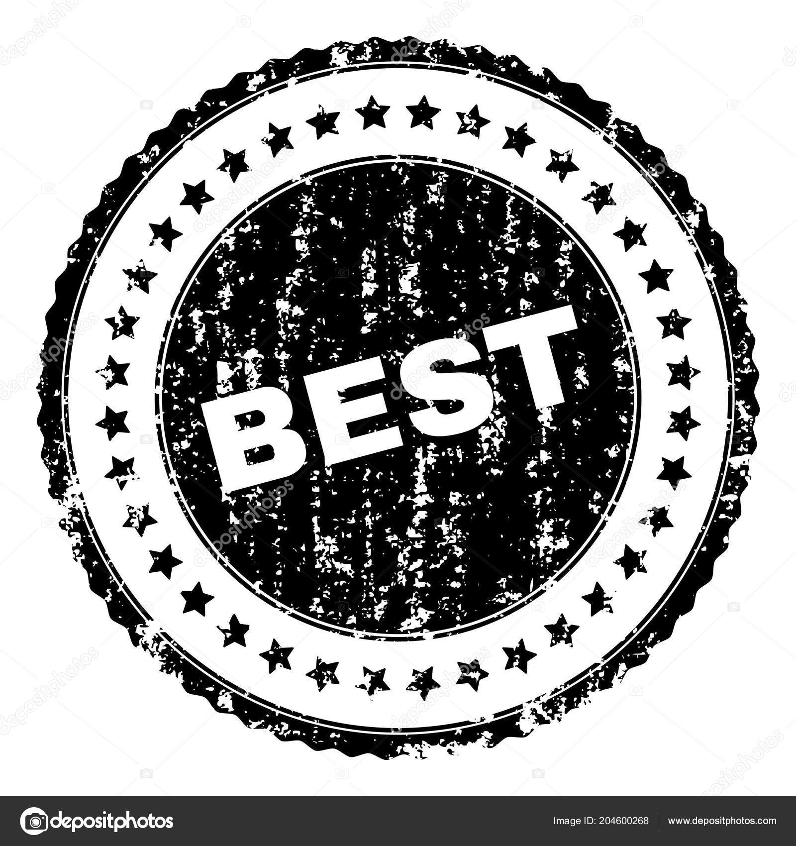 scratched textured best stamp seal stock vector