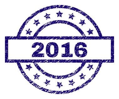 Grunge Textured 2016 Stamp Seal