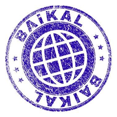 Grunge Textured BAIKAL Stamp Seal
