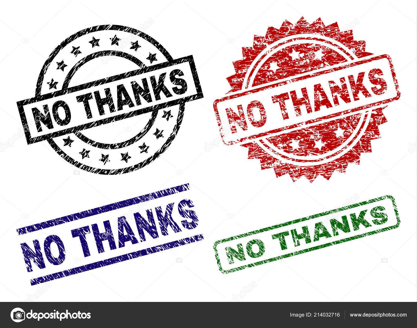Beschädigte Strukturierte Nein Danke Stempel Dichtungen