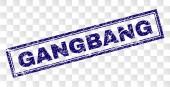 Fotografie Grunge-Gangbang-Rechteck-Stempel