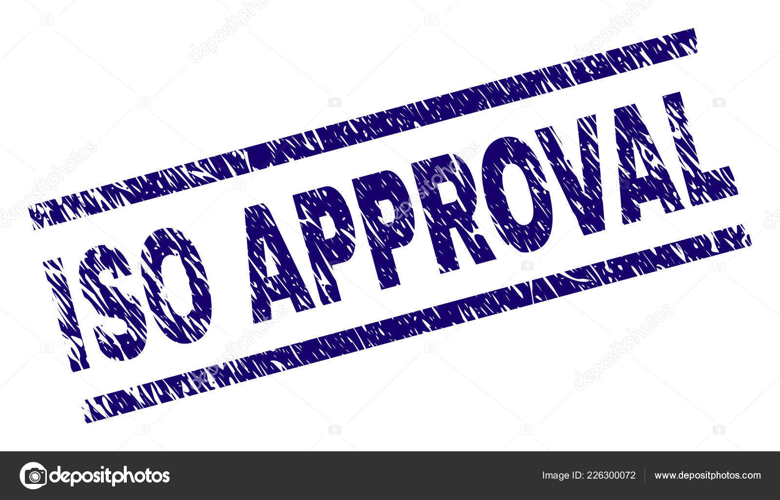 Scratched Textured ISO APPROVAL Stamp Seal Stock Vector