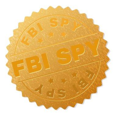 Golden FBI SPY Badge Stamp