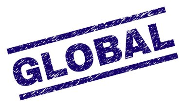 Grunge Textured GLOBAL Stamp Seal