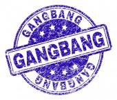 Fotografie Zerkratzt strukturierte Gangbang Stempel Siegel