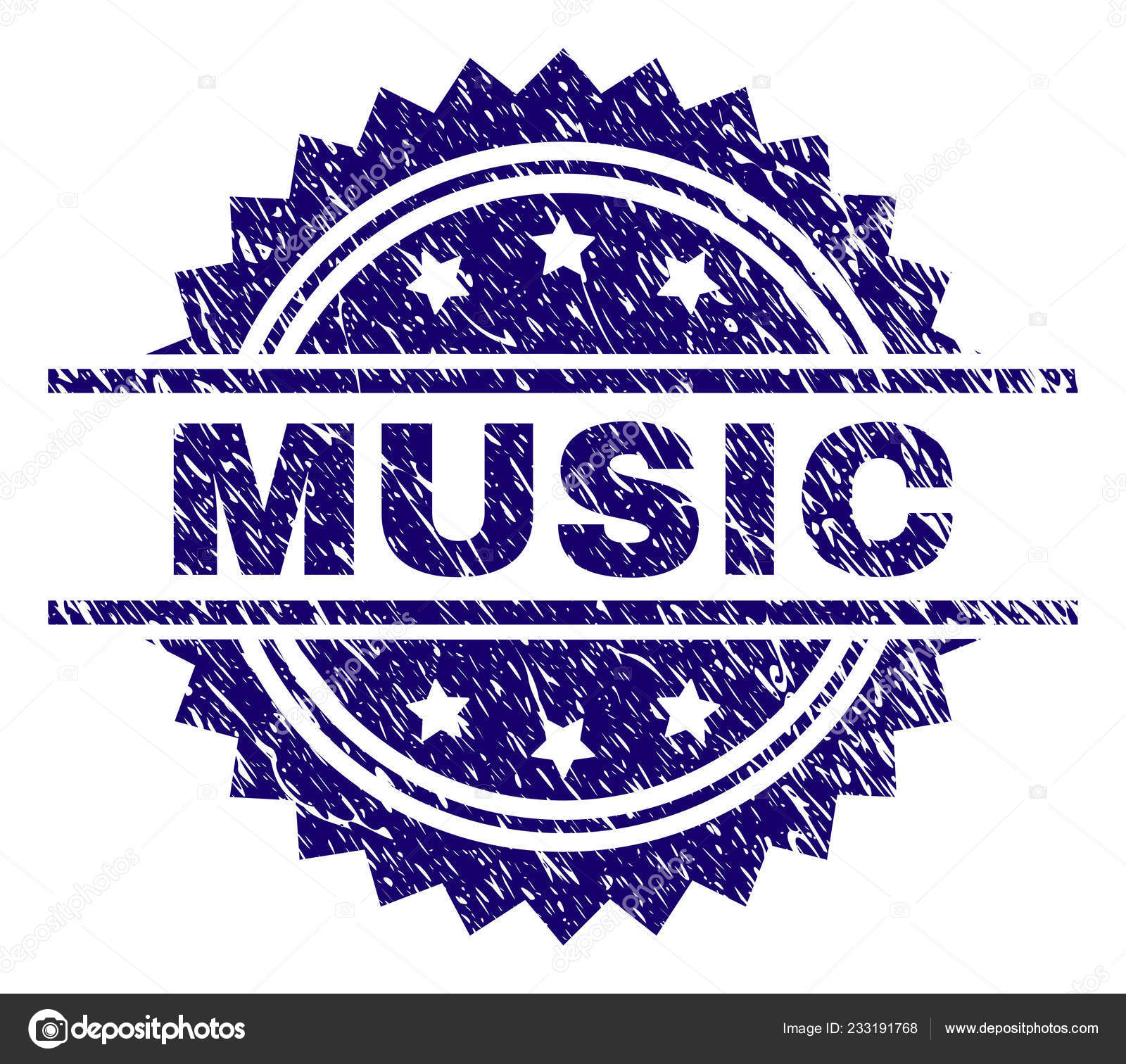 Grunge Textured MUSIC Stamp Seal Stock Vector