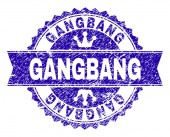 Fotografie Zerkratzt strukturierte Gangbang Stempel Siegel mit Band