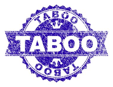 Scratched Textured TABOO Stamp Seal with Ribbon