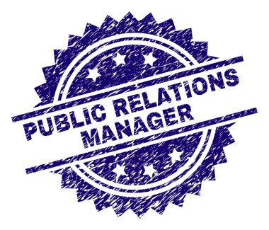 Grunge Textured PUBLIC RELATIONS MANAGER Stamp Seal