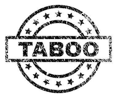 Grunge Textured TABOO Stamp Seal