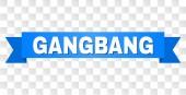 Fotografie Blauen Streifen mit Gangbang Text
