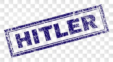 Grunge HITLER Rectangle Stamp