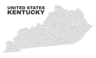 Vector Kentucky State Map of Dots