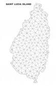 Vektorová mapa ostrova Saint Lucia polygonálních sítí