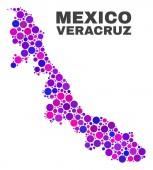 Mozaik Veracruz állam megjelenítése kerek pontok